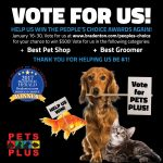 Vote for Pets Plus in the 2018 People's Choice Awards!